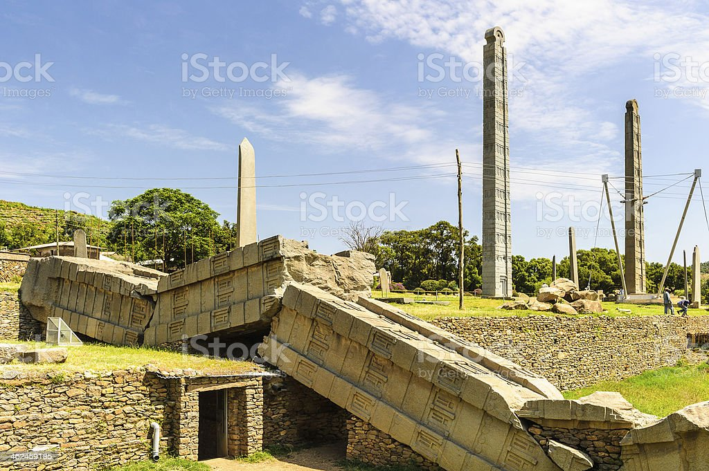 Ruins of Aksum (Axum), Ethiopia stock photo