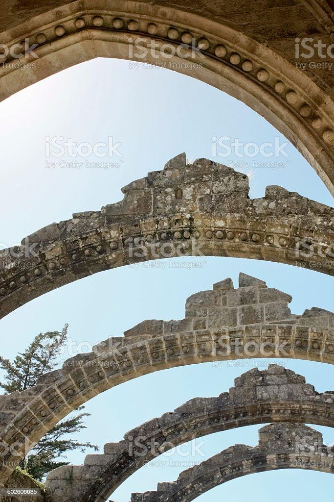 Ruins of an ancient church stock photo
