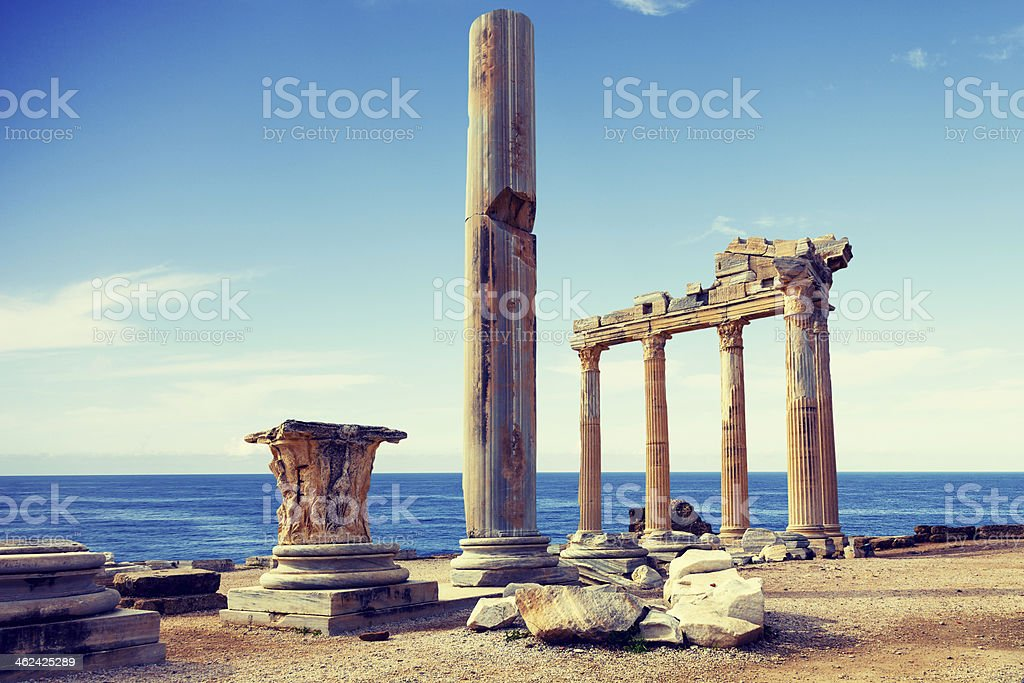 Ruins of an ancient temple stock photo