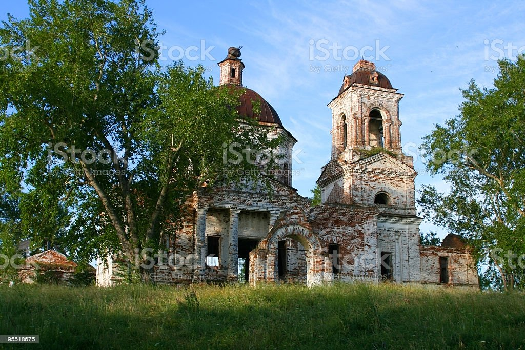 Ruins of an orthodox temple royalty-free stock photo