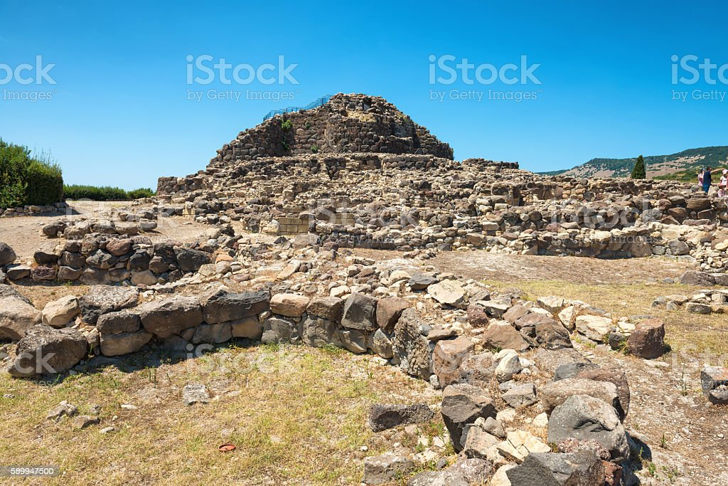Ruins of ancient city stock photo