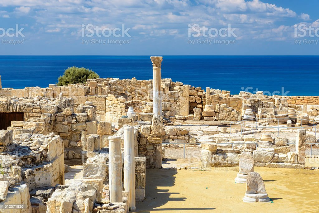 Ruins of ancient Kourion, Cyprus, stock photo