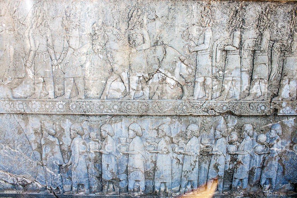 Ruins of ancient Persepolis stock photo
