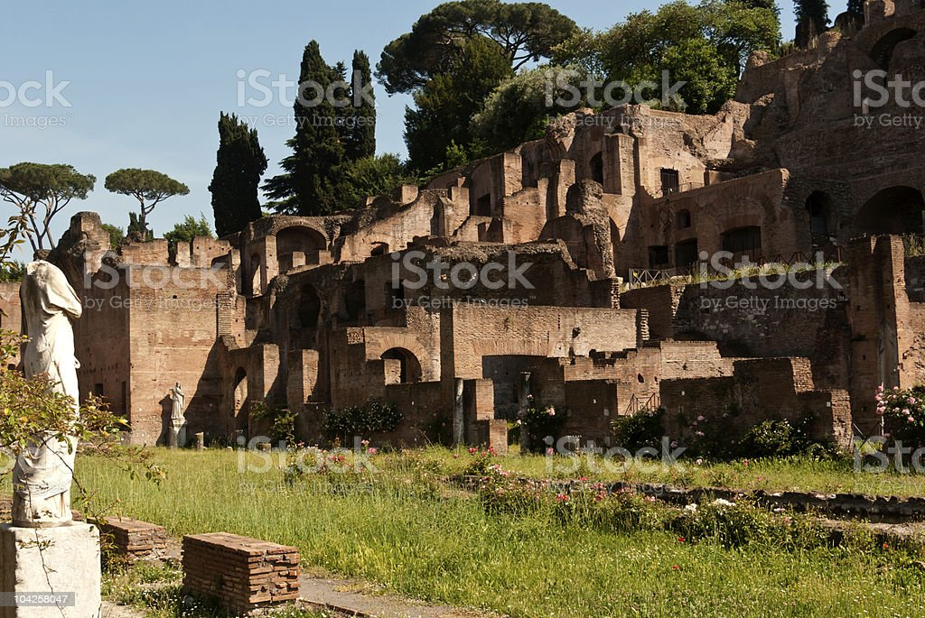 Ruins of ancient Rome stock photo