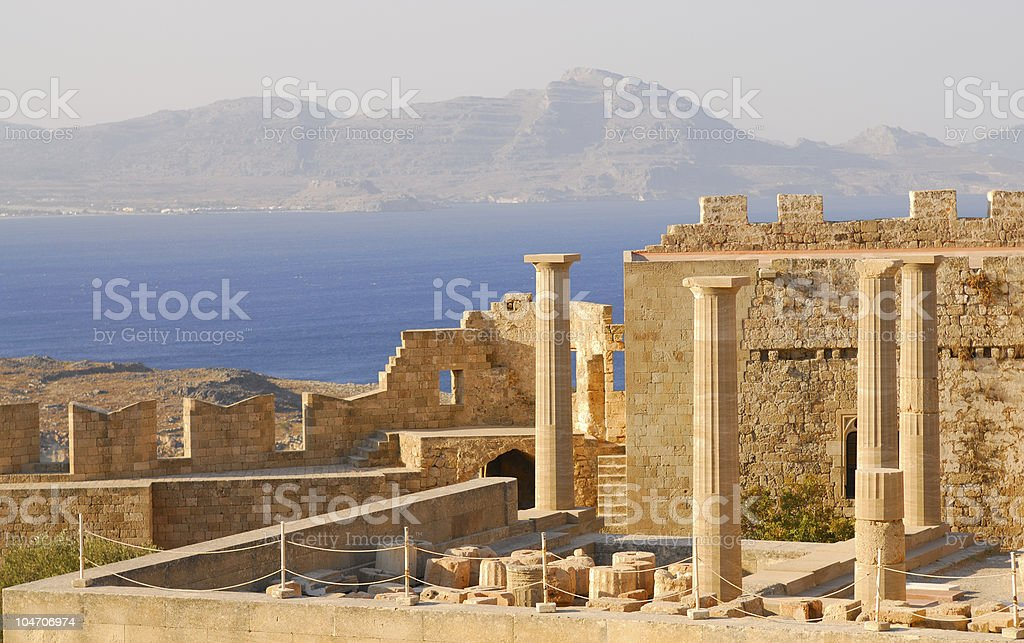 Ruins of ancient temple. Greece stock photo