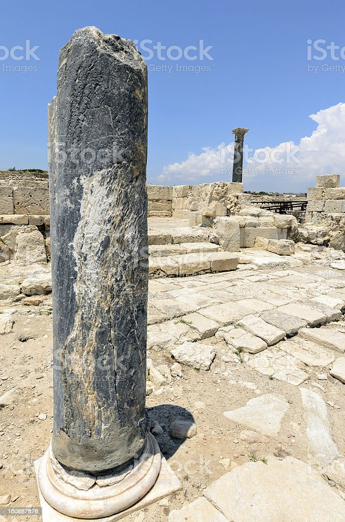 Ruins of ancient town on Cyprus royalty-free stock photo