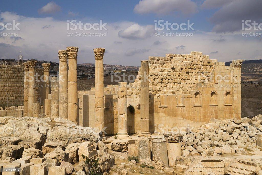 Ruins of antique Gerasa royalty-free stock photo