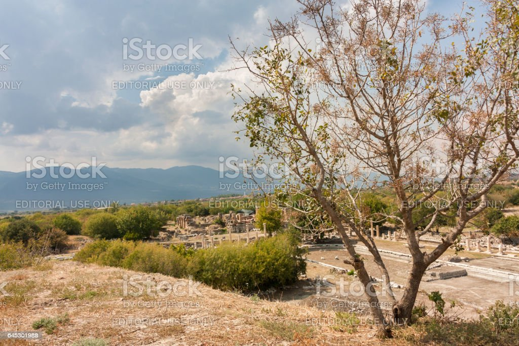 Ruins of Aphrodisias stock photo