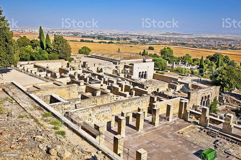 Ruins of  Azahara ancient city near Cordoba, Spain. royalty-free stock photo
