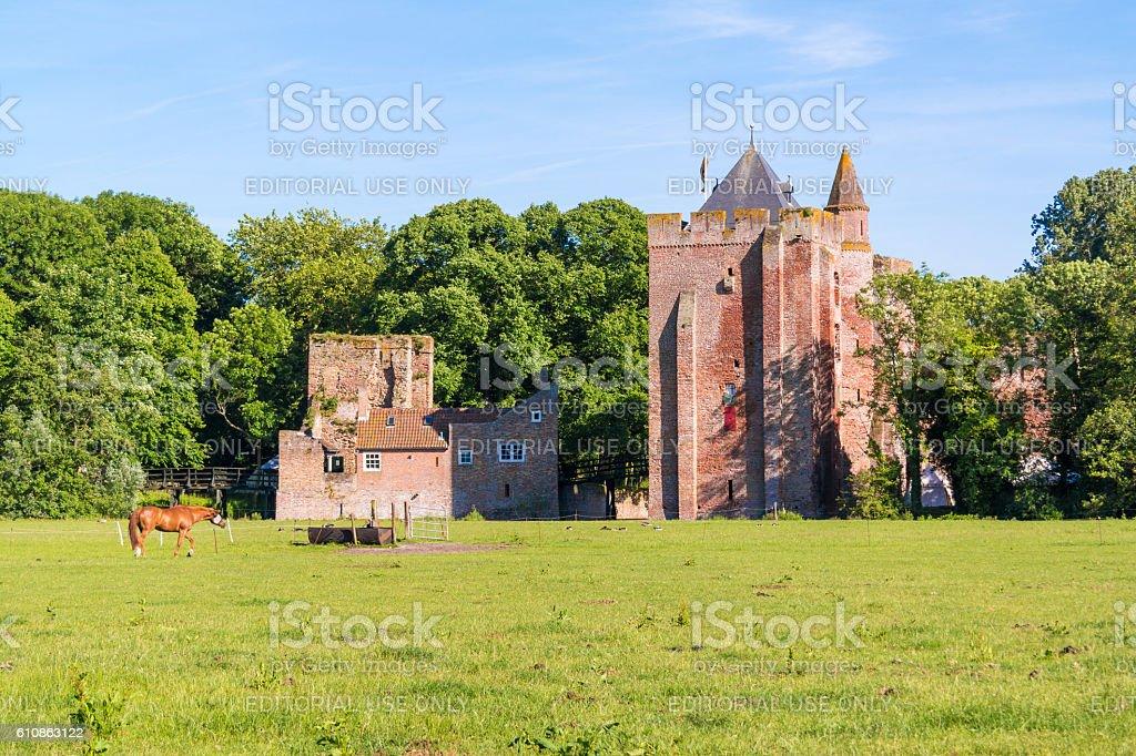 Ruins of Brederode Castle, Netherlands stock photo