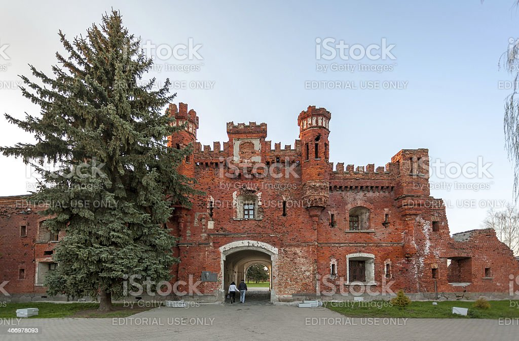 Ruins of Brest Fortress, Republic of Belarus stock photo
