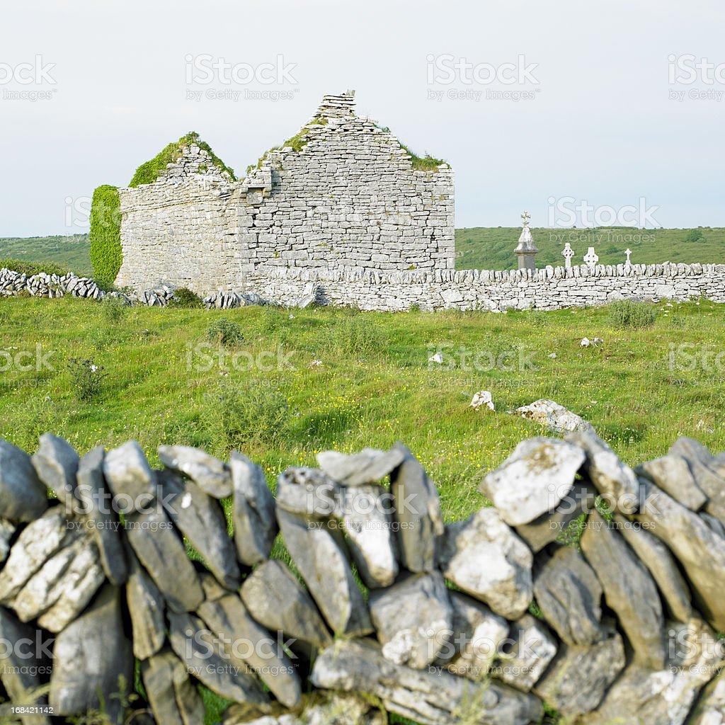 ruins of Carran Church royalty-free stock photo