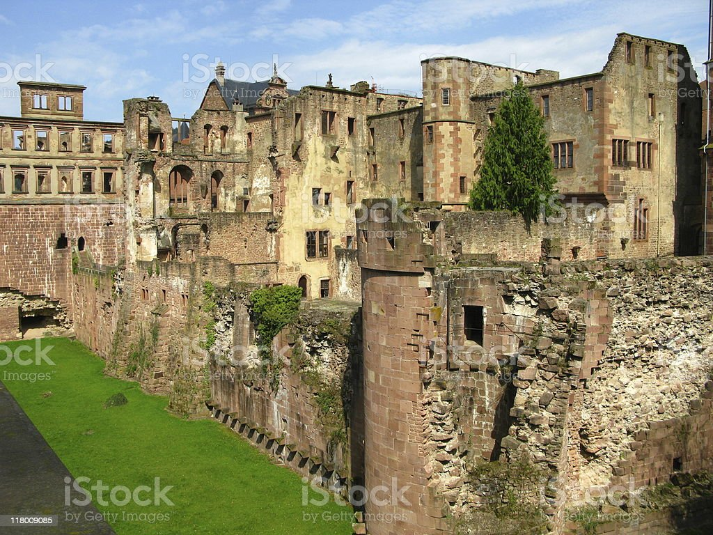 Ruins of castle Heidelberg stock photo