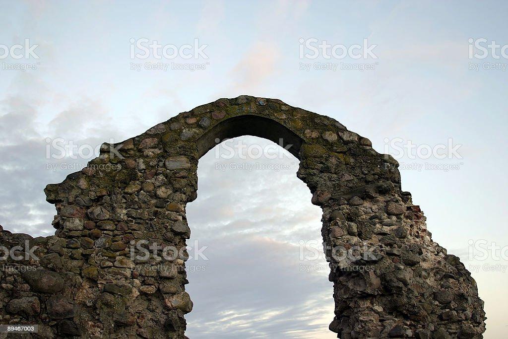Ruins of castle Rezekne. royalty-free stock photo