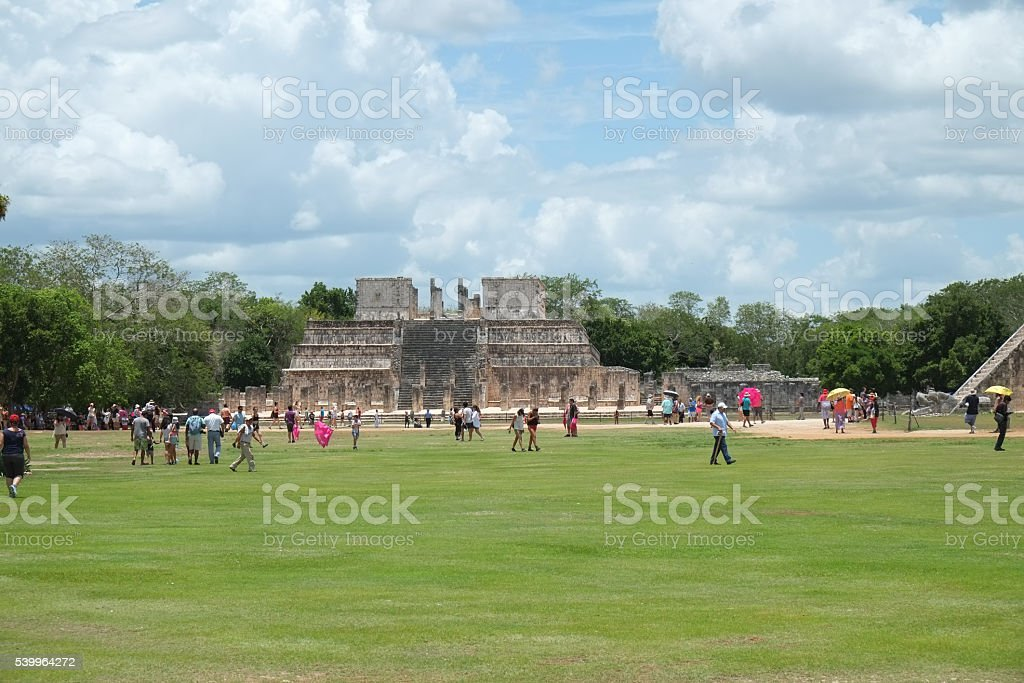 Ruins of Chichen Itza During the Day stock photo
