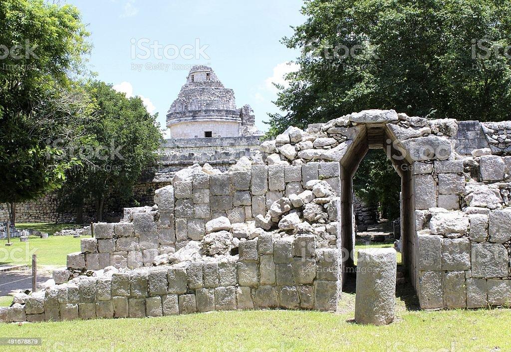 Ruins of Chichen Itza royalty-free stock photo