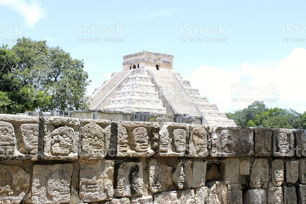 Ruins of Chichen Itza royalty-free stock photo