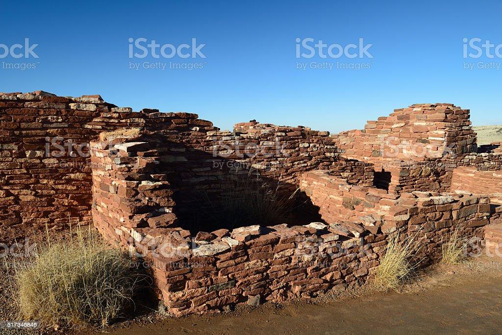 Ruins of Citadel Pueblo at Watkins National Monument stock photo