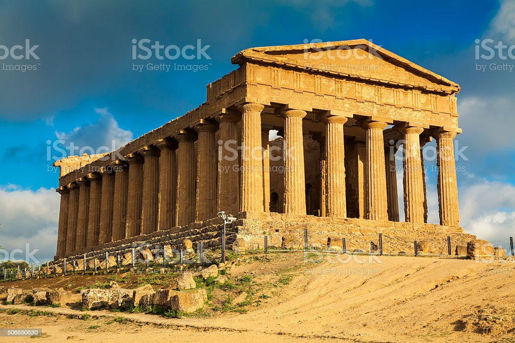ruins of Concordia Temple stock photo