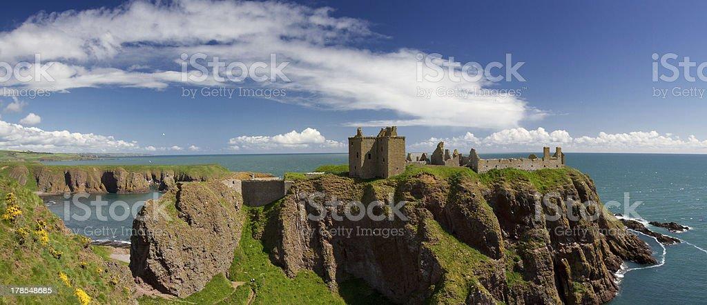 Ruins of Dunnotar Castle stock photo