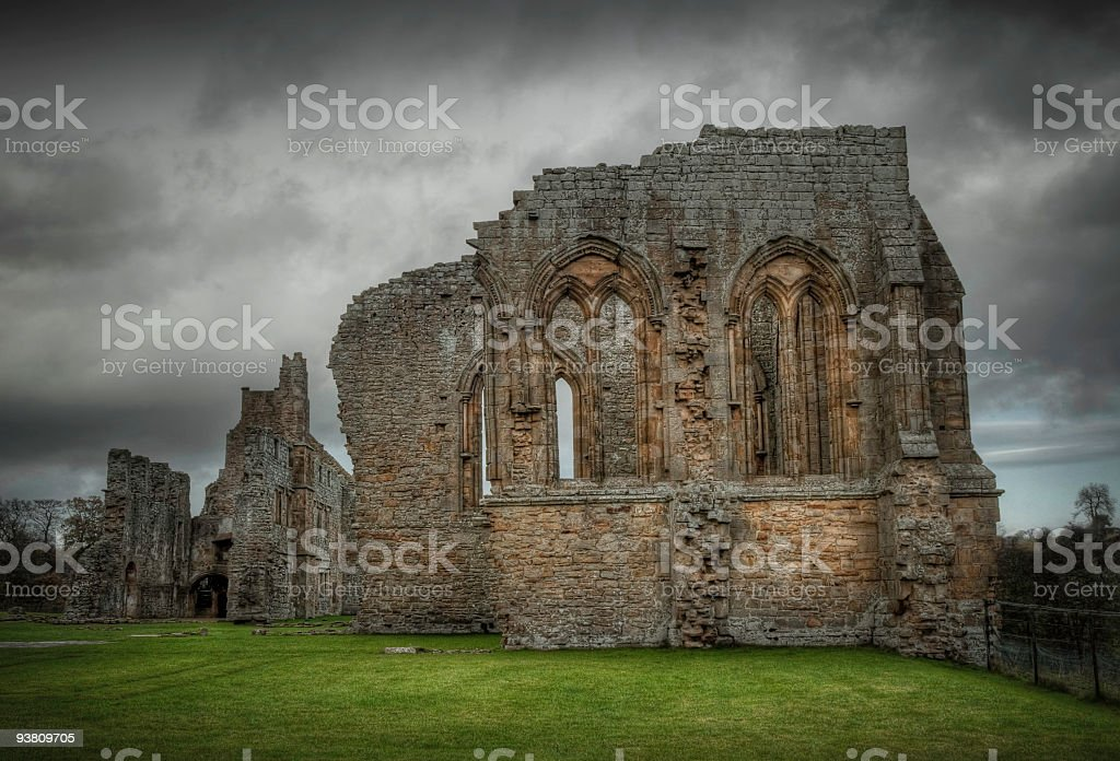 Ruins of Egglestone Abbey, Barnard Castle, Durham, UK stock photo