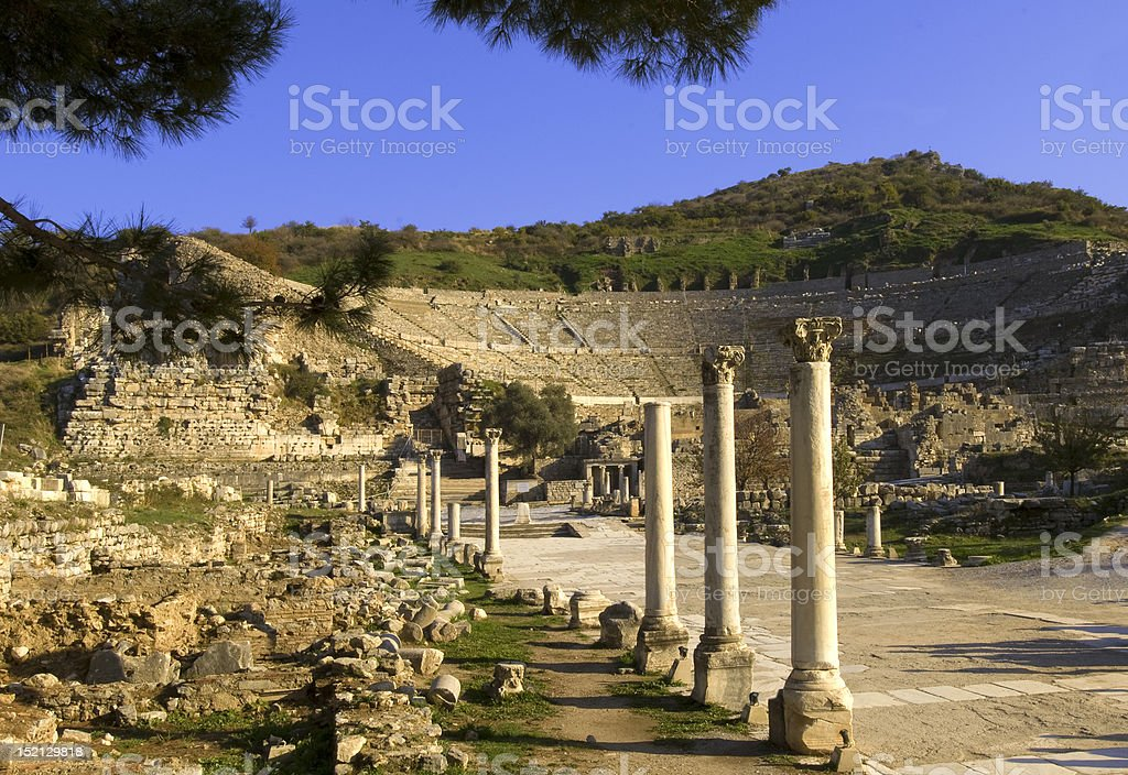 Ruins of Ephesus royalty-free stock photo