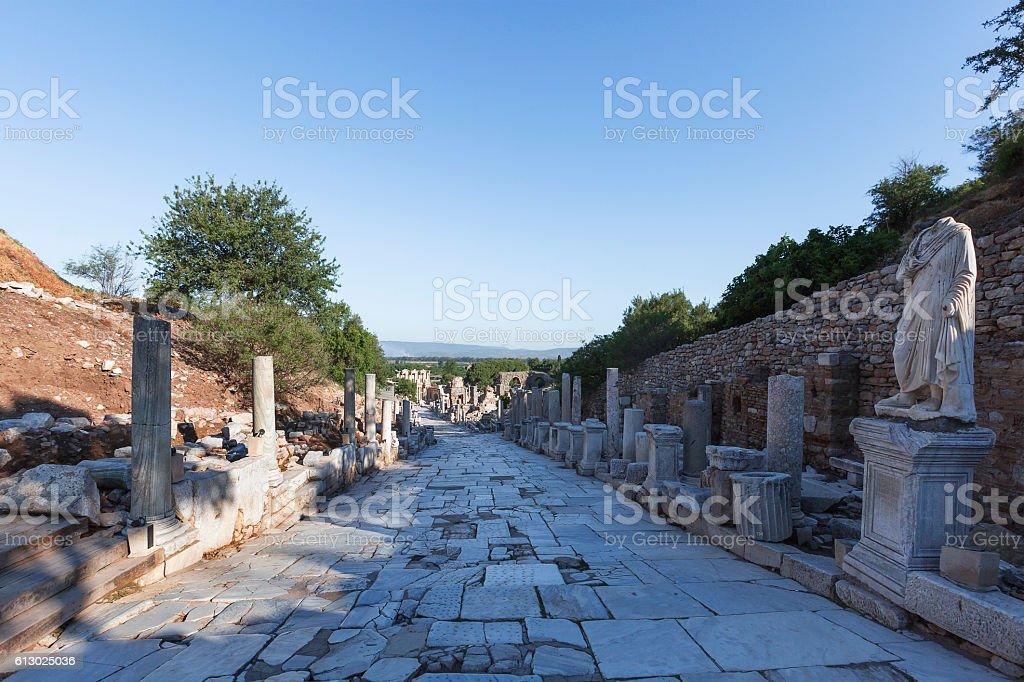 Ruins of Ephesus, Turkey stock photo