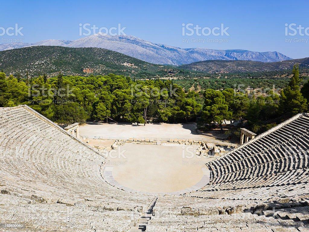 Ruins of Epidaurus amphitheater royalty-free stock photo