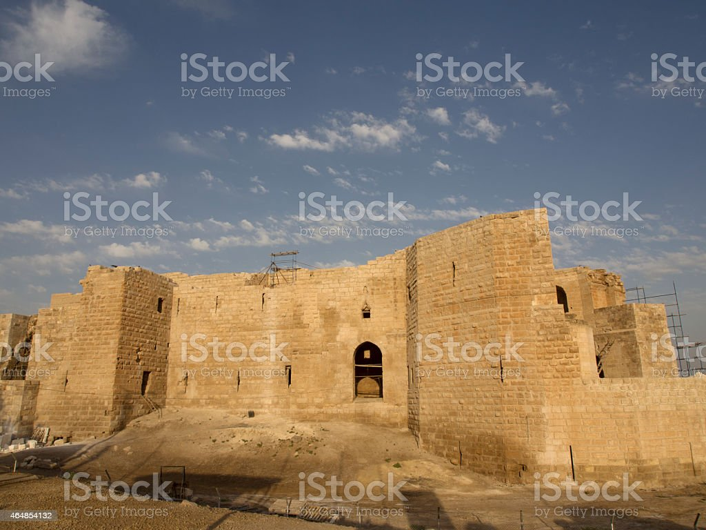 Ruins of fortress in Harran in Turkey stock photo