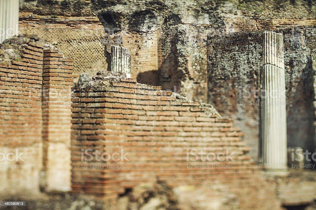 Ruins of Hadrian's Villa at Tivoli, Rome stock photo
