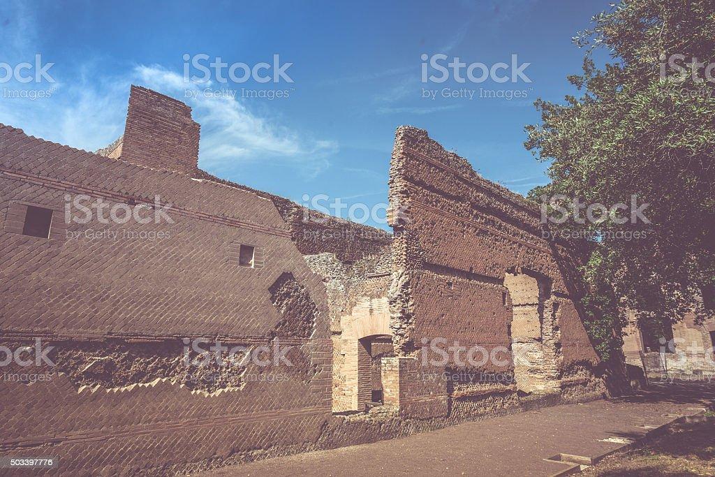 Ruins of Hadrian's Villa stock photo