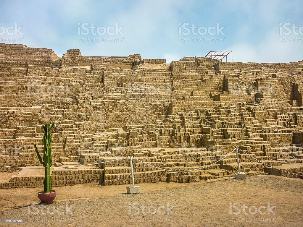 Ruins of Huaca Pucllana stock photo