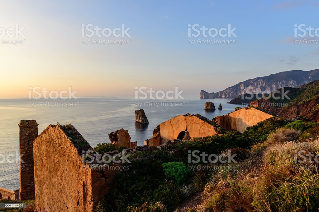 Ruins of Industrial Mining stock photo
