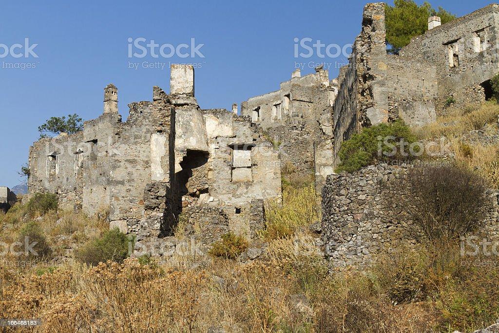 Ruins of Kayakoy royalty-free stock photo