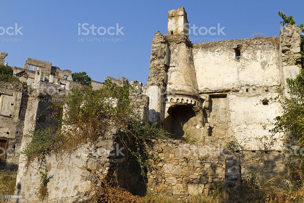 Ruins of Kayakoy royalty-free stock photo