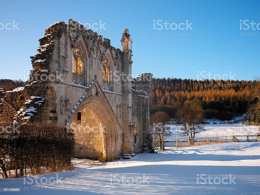 Ruins of Kirkham Priory - Yorkshire - England stock photo