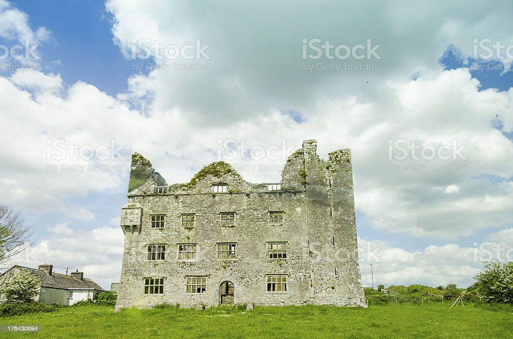 Ruins of Leamanagh Castle royalty-free stock photo