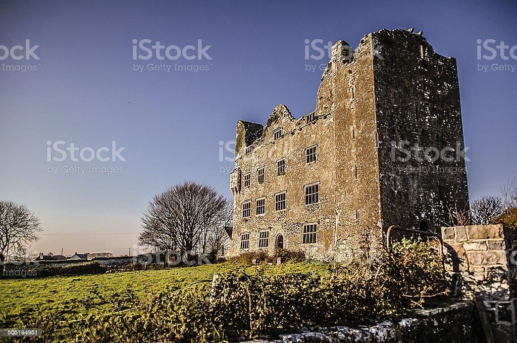 Ruins of Leamaneh Castle royalty-free stock photo