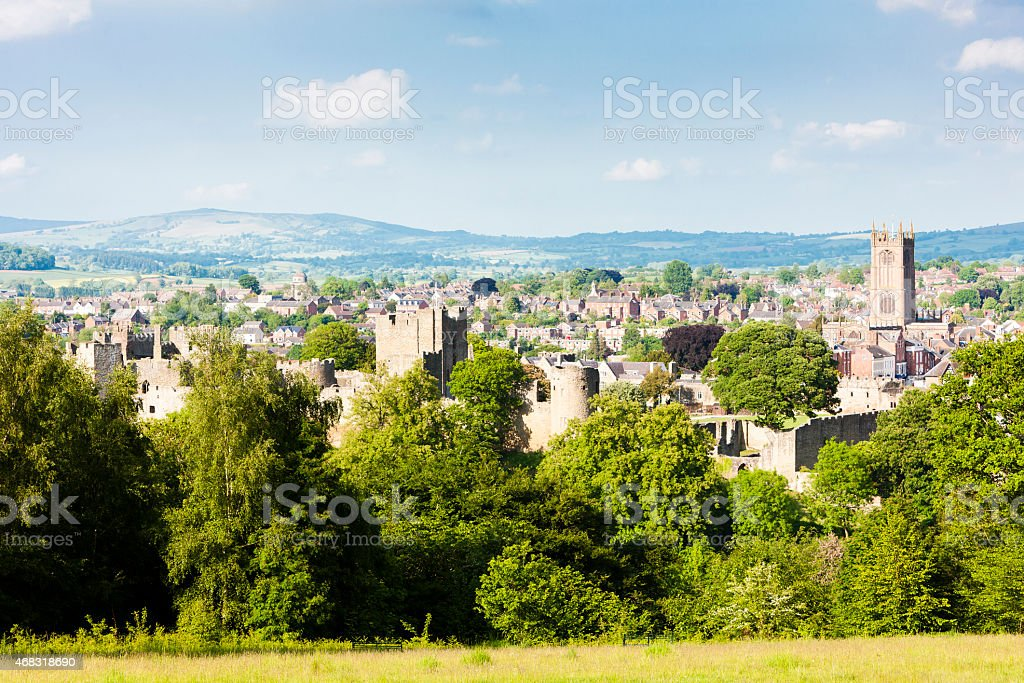 ruins of Ludlow Castle stock photo