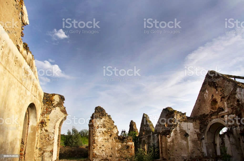 ruins of Mina Sao Domingos, Alentejo stock photo