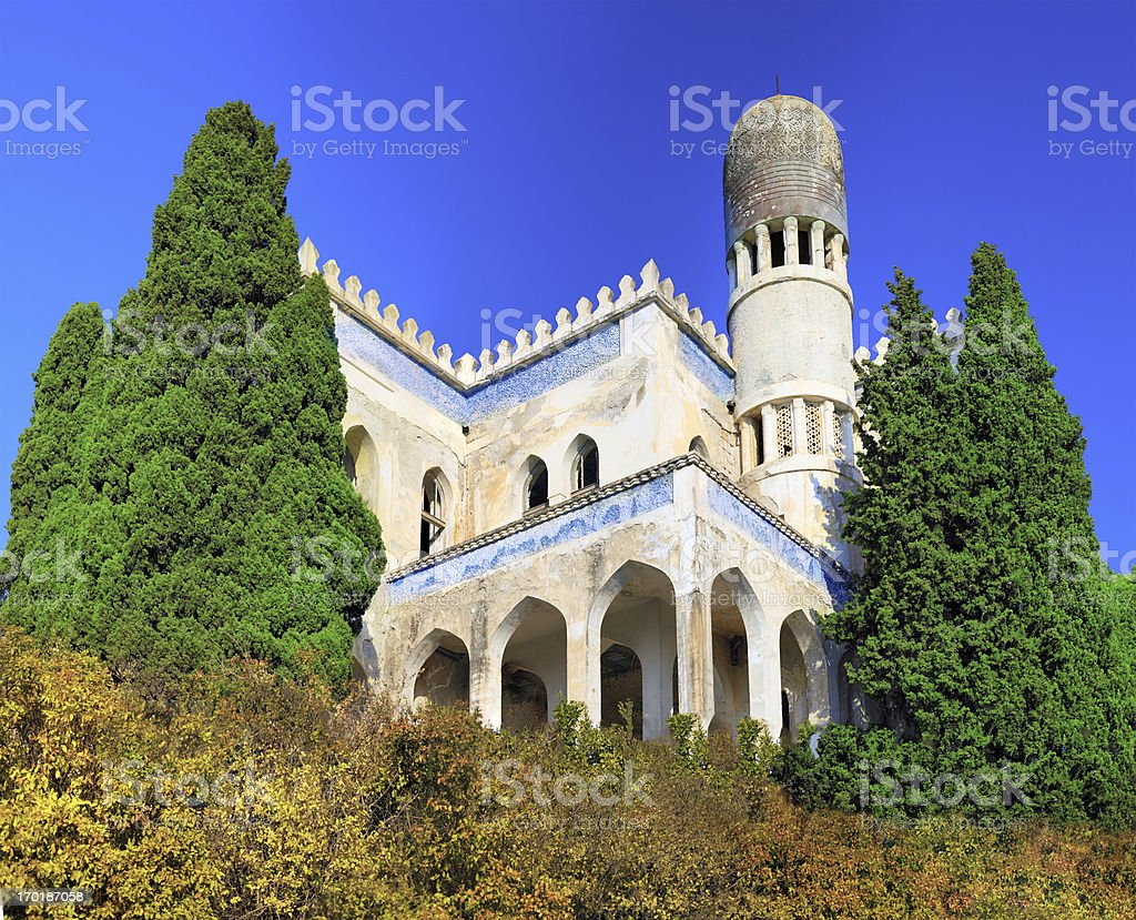 Ruins of Mosque in Semeiz, Crimea stock photo