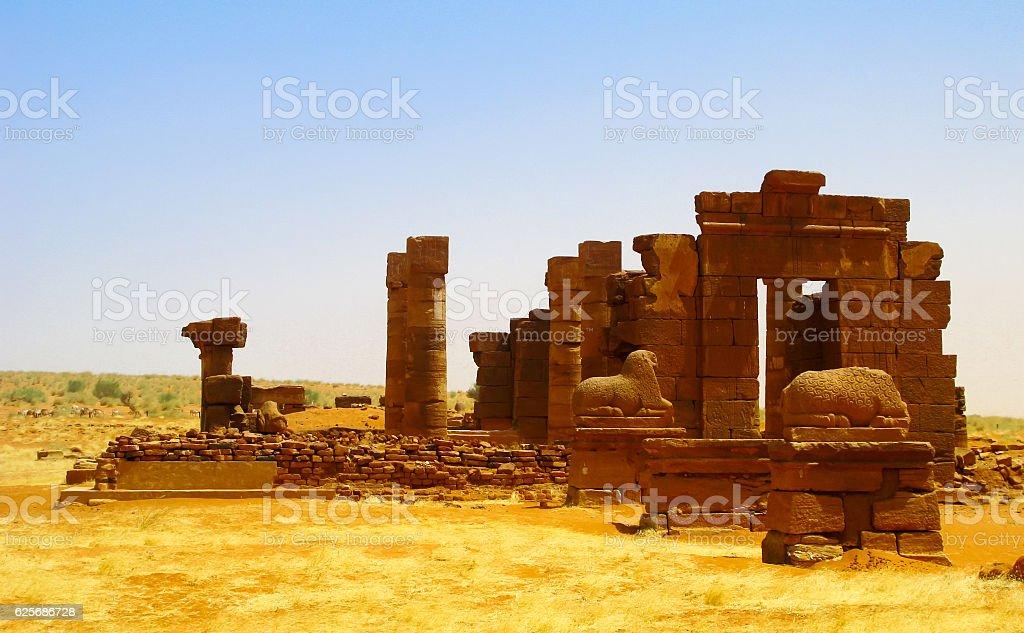 Ruins of Naqa Meroe, ancient Kush Sudan stock photo