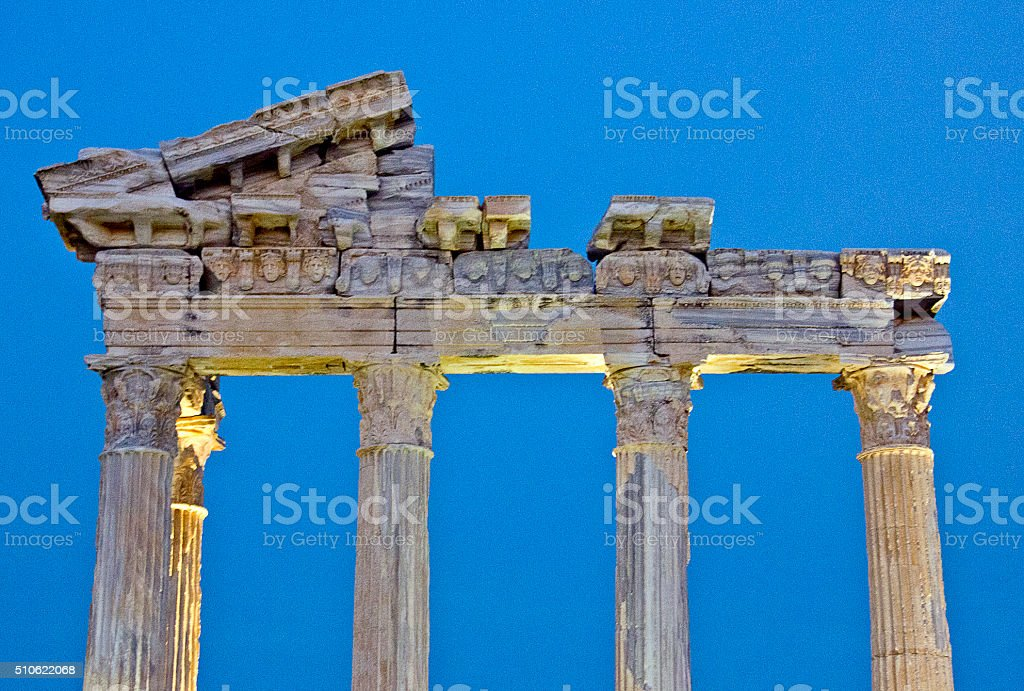 Ruins of old city stock photo