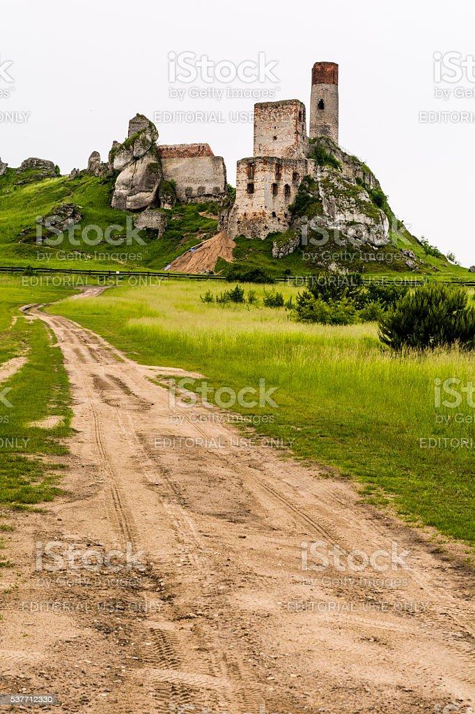 Ruins of Olsztyn Castle. stock photo