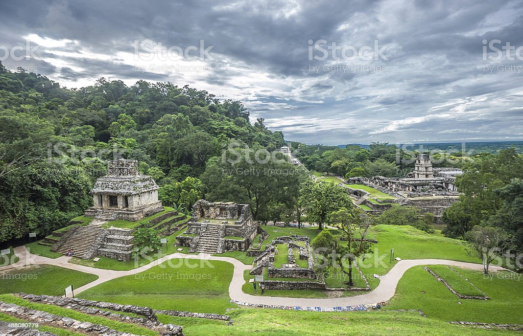 Ruins of Palenque, Mexico stock photo