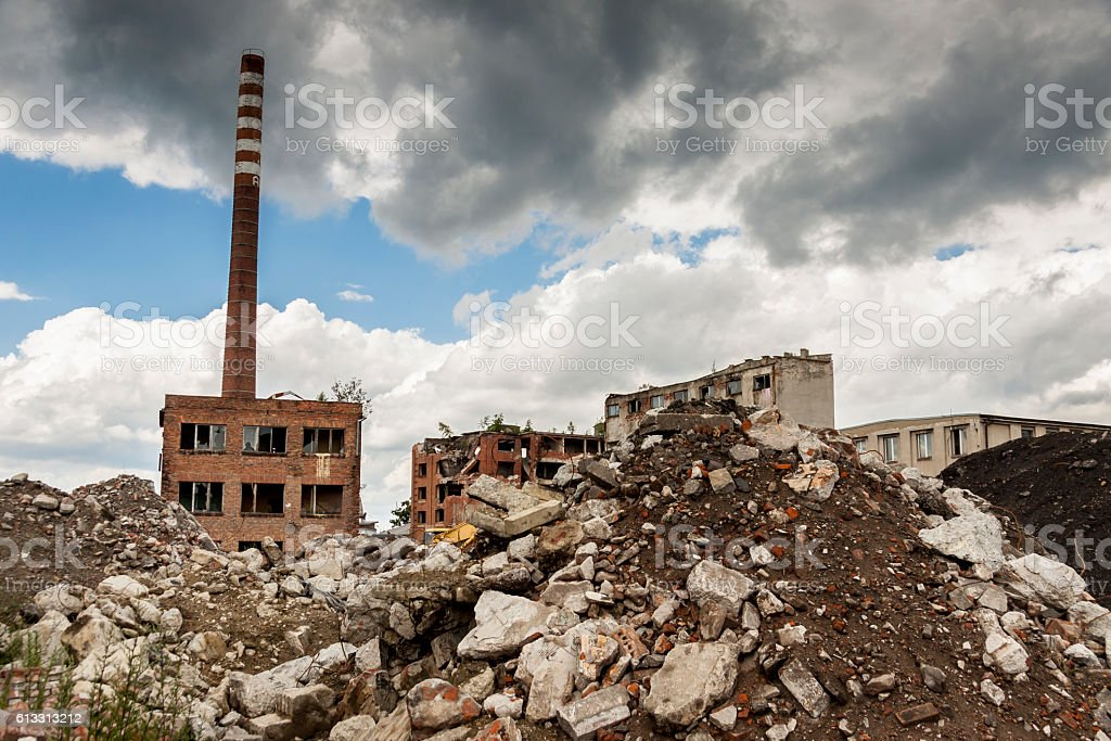 Ruins of Paper Mill - Kalety, Poland. stock photo