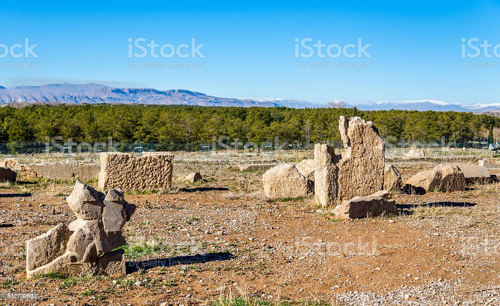 Ruins of Persepolis, the capital of the Achaemenid Empire stock photo