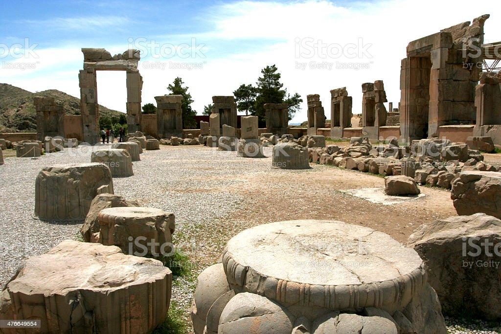 Ruins of Persepolis,Iran stock photo