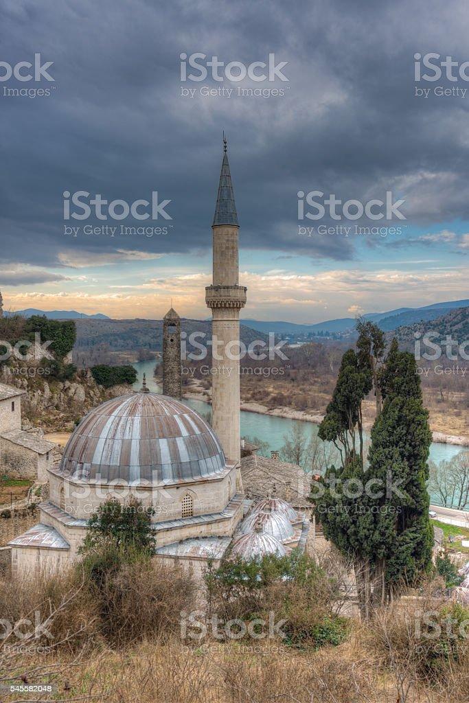 Ruins of Pocitelj, Bosnia-Herzegovina stock photo