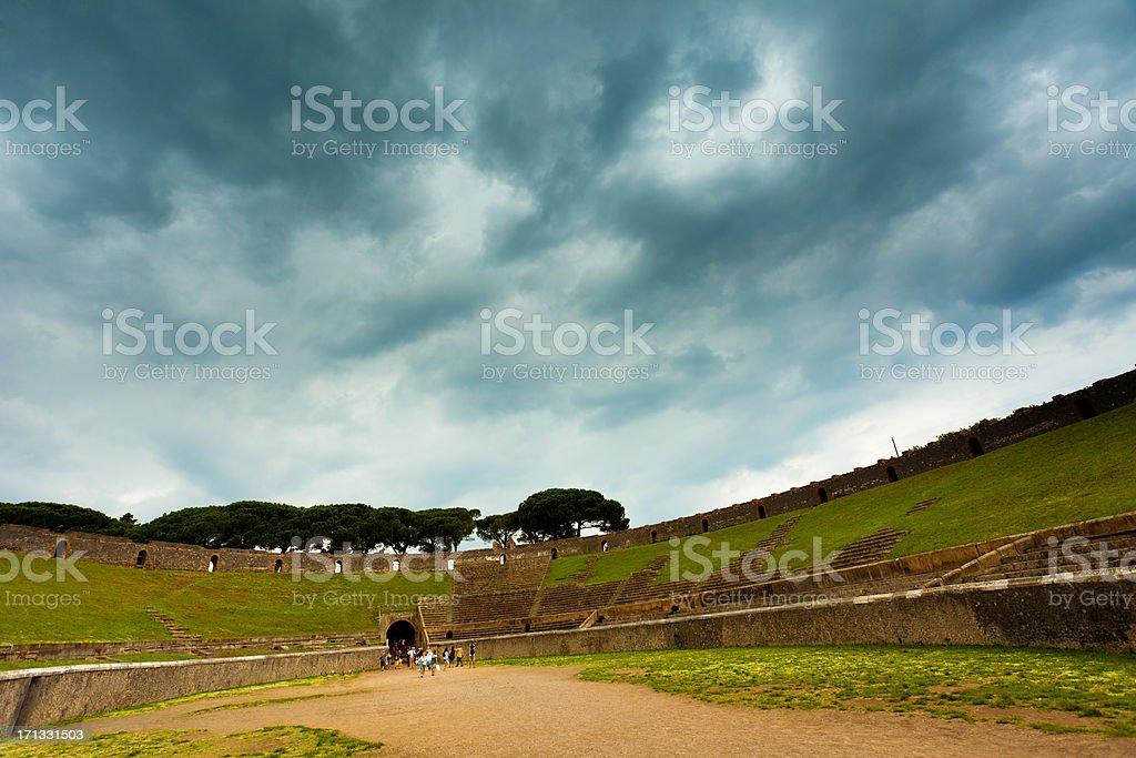 Ruins of Pompei royalty-free stock photo